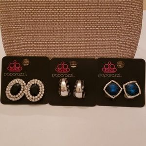 Paparazzi  3 pair. CLIP ON Earrings